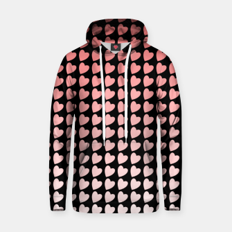 Thumbnail image of Heart Gradient Pattern in Coral and Black Hoodie, Live Heroes