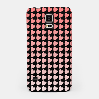 Thumbnail image of Heart Gradient Pattern in Coral and Black Samsung Case, Live Heroes