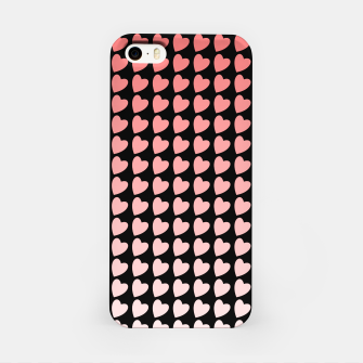 Thumbnail image of Heart Gradient Pattern in Coral and Black iPhone Case, Live Heroes