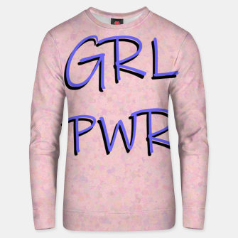 Thumbnail image of GRL PWR Unisex sweater, Live Heroes