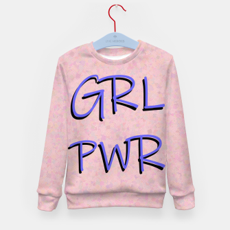 Thumbnail image of GRL PWR Kid's sweater, Live Heroes