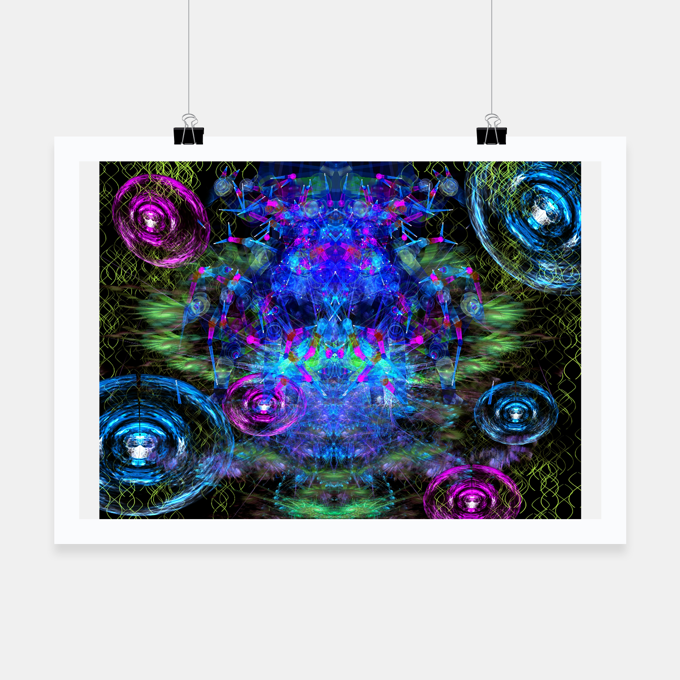 Image of Jester Juggling Android Orbs Poster - Live Heroes