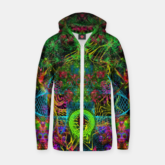 Thumbnail image of Festive Salutations From Andromeda (visionary, psychedelic, psyart) Zip up hoodie, Live Heroes