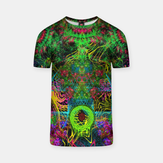 Miniatur Festive Salutations From Andromeda (visionary, psychedelic, psyart) T-shirt, Live Heroes