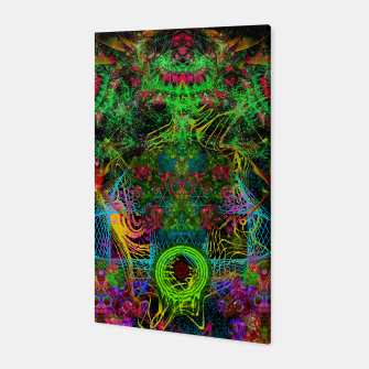 Miniatur Festive Salutations From Andromeda (visionary, psychedelic, psyart) Canvas, Live Heroes