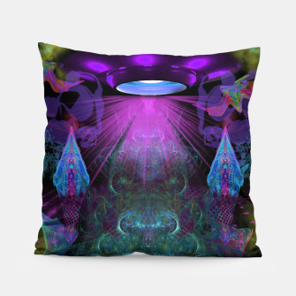 Thumbnail image of Kreythian Landing (alien, extraterrestrial, ufo,) Pillow, Live Heroes