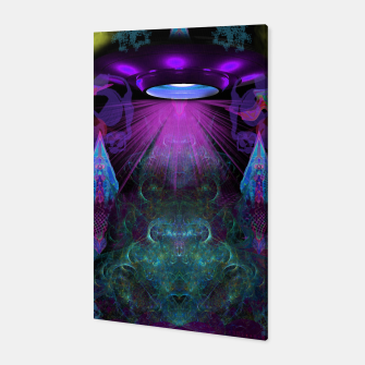 Thumbnail image of Kreythian Landing (alien, extraterrestrial, ufo,) Canvas, Live Heroes