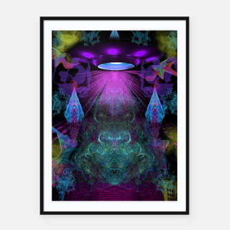 Thumbnail image of Kreythian Landing (alien, extraterrestrial, ufo,) Framed poster, Live Heroes