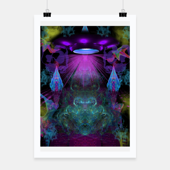 Thumbnail image of Kreythian Landing (alien, extraterrestrial, ufo,) Poster, Live Heroes