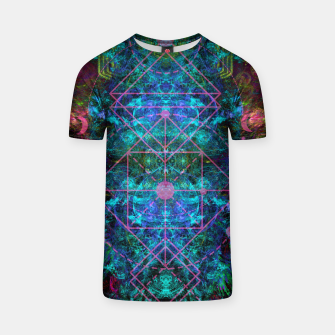 Thumbnail image of Mystical Release (abstract, visionary, psychedelic, fractal) T-shirt, Live Heroes