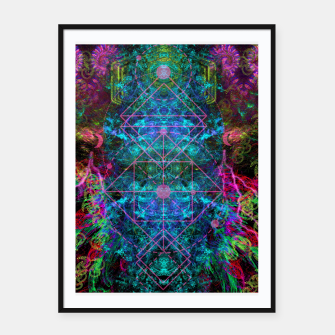 Thumbnail image of Mystical Release (abstract, visionary, psychedelic, fractal) Framed poster, Live Heroes