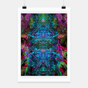 Thumbnail image of Mystical Release (abstract, visionary, psychedelic, fractal) Poster, Live Heroes