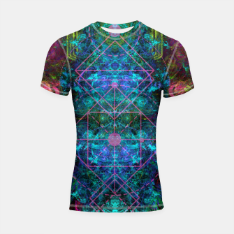 Thumbnail image of Mystical Release (abstract, visionary, psychedelic, fractal) Shortsleeve rashguard, Live Heroes