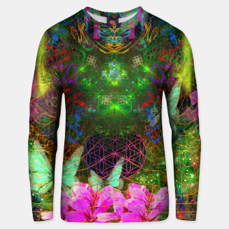 Thumbnail image of Renewed Life (geranium flowers, pink, visionary) Unisex sweater, Live Heroes