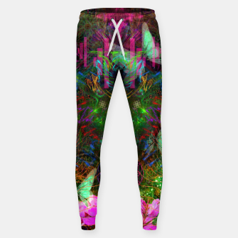 Thumbnail image of Renewed Life (geranium flowers, pink, visionary) Sweatpants, Live Heroes