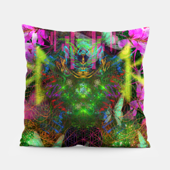 Thumbnail image of Renewed Life (geranium flowers, pink, visionary) Pillow, Live Heroes