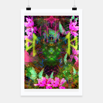 Thumbnail image of Renewed Life (geranium flowers, pink, visionary) Poster, Live Heroes
