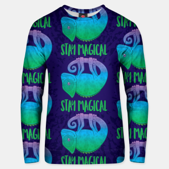 Thumbnail image of Stay Magical Levitating Chameleon Unisex sweater, Live Heroes