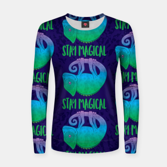 Miniatur Stay Magical Levitating Chameleon Women sweater, Live Heroes
