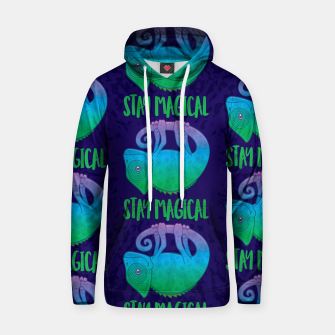 Thumbnail image of Stay Magical Levitating Chameleon Hoodie, Live Heroes