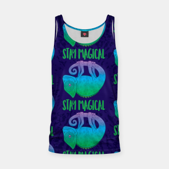 Miniatur Stay Magical Levitating Chameleon Tank Top, Live Heroes