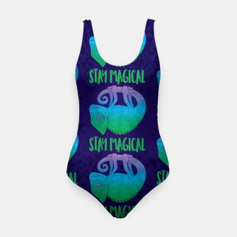 Thumbnail image of Stay Magical Levitating Chameleon Swimsuit, Live Heroes