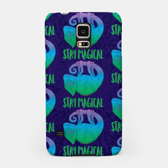 Thumbnail image of Stay Magical Levitating Chameleon Samsung Case, Live Heroes