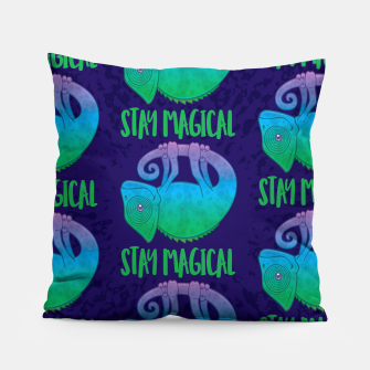 Miniatur Stay Magical Levitating Chameleon Pillow, Live Heroes