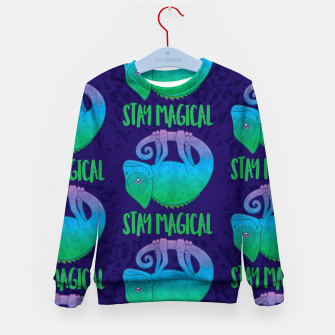 Thumbnail image of Stay Magical Levitating Chameleon Kid's sweater, Live Heroes
