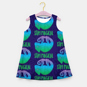 Thumbnail image of Stay Magical Levitating Chameleon Girl's summer dress, Live Heroes