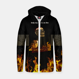 Miniaturka diagnosed depression Zip up hoodie, Live Heroes