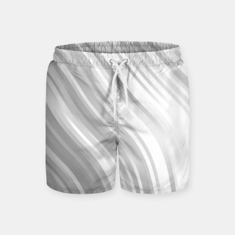 Thumbnail image of stripes wave pattern 1 bwbfp Swim Shorts, Live Heroes