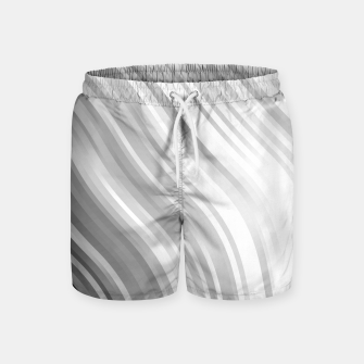 Thumbnail image of stripes wave pattern 1 bwbfv Swim Shorts, Live Heroes
