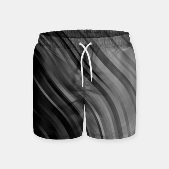 Thumbnail image of stripes wave pattern 1 bwipi Swim Shorts, Live Heroes