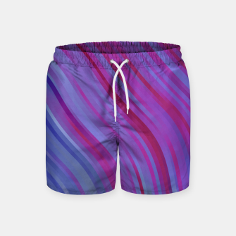 Thumbnail image of stripes wave pattern 1 c80pi Swim Shorts, Live Heroes