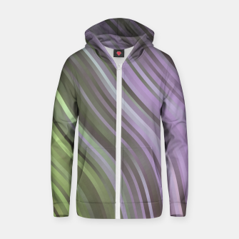 stripes wave pattern 1 clp Zip up hoodie miniature