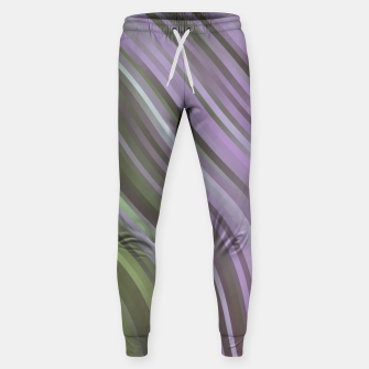 stripes wave pattern 1 clp Sweatpants miniature