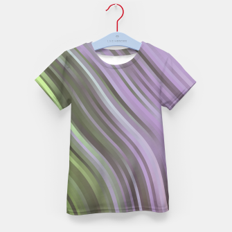 stripes wave pattern 1 clp Kid's t-shirt miniature