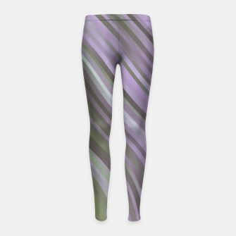 stripes wave pattern 1 clp Girl's leggings miniature