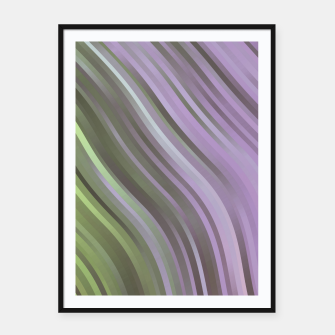 stripes wave pattern 1 clp Framed poster miniature