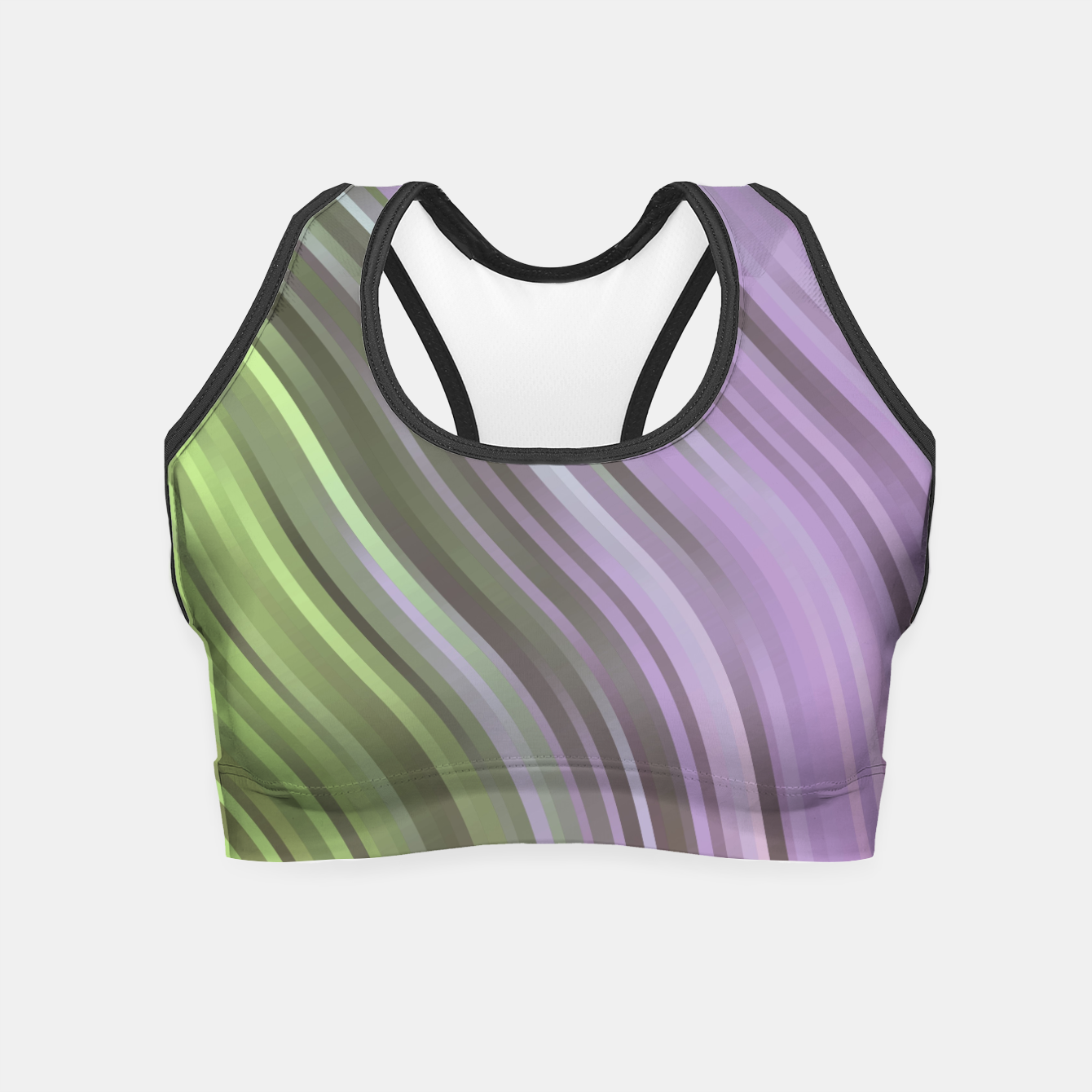 Image de stripes wave pattern 1 clp Crop Top - Live Heroes