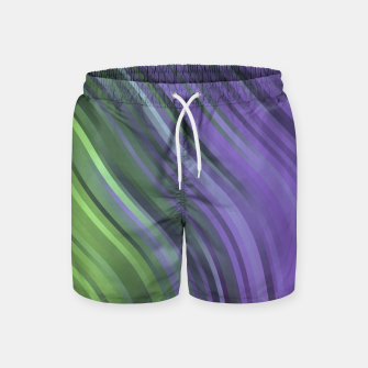 Thumbnail image of stripes wave pattern 1 clv Swim Shorts, Live Heroes