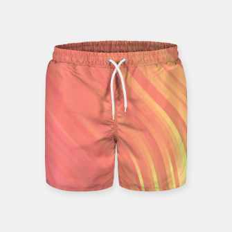 Thumbnail image of stripes wave pattern 1 clvi Swim Shorts, Live Heroes