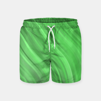 Thumbnail image of stripes wave pattern 1 dep Swim Shorts, Live Heroes