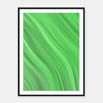 stripes wave pattern 1 dep Framed poster miniature