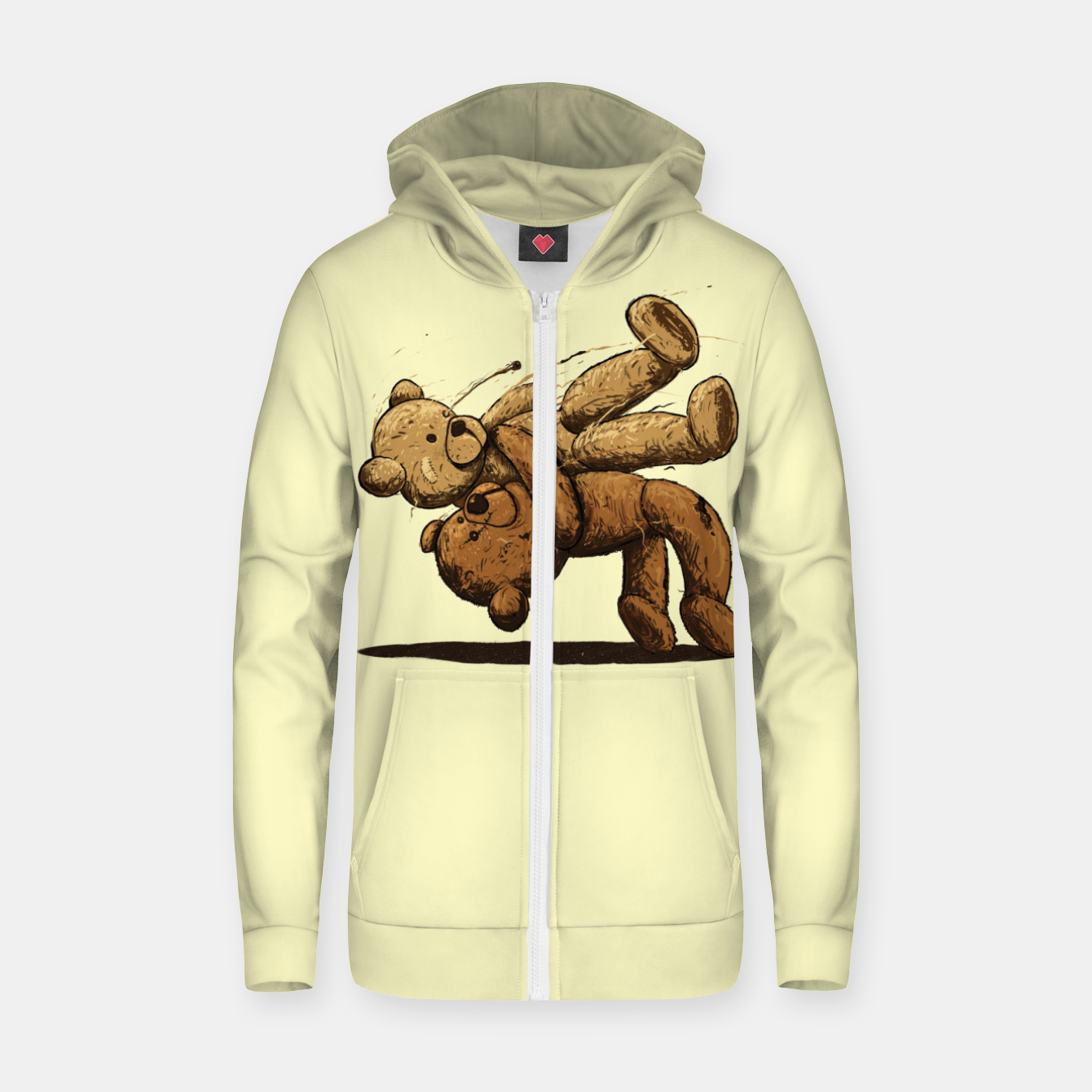 Image of Bear Hug Zip up hoodie - Live Heroes