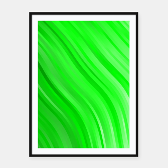 stripes wave pattern 1 devi Framed poster miniature