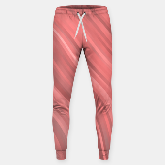 stripes wave pattern 1 drp Sweatpants miniature