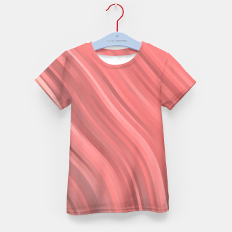 stripes wave pattern 1 drp Kid's t-shirt miniature