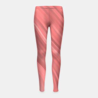 stripes wave pattern 1 drp Girl's leggings miniature